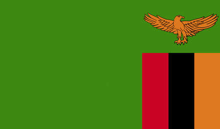 zambia: Zambia flag Stock Photo