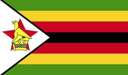 zimbabue: bandera de Zimbabwe Foto de archivo