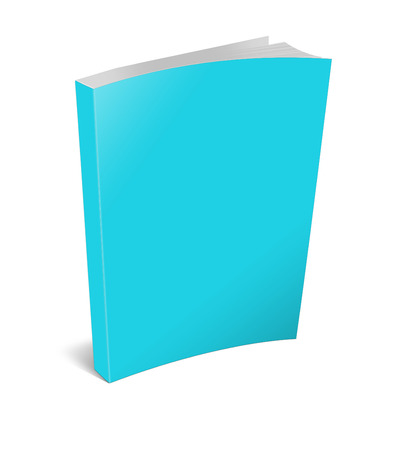 periodical: 3d illustration blank square hardcover album template on white background