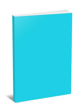 hardcover: 3d illustration blank square hardcover album template on white background
