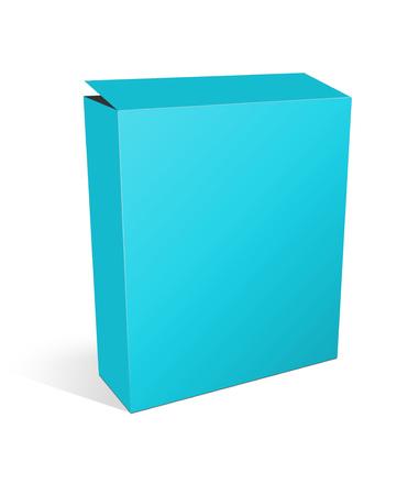 3d illustration blank box on white background Stock fotó