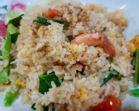 Close-up of delicious fried rice. Stock fotó