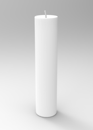 Extinguished white candle isolated on white background, 3d render Stock fotó