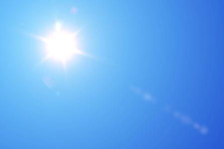 blue sky and sun Stock fotó - 90058399