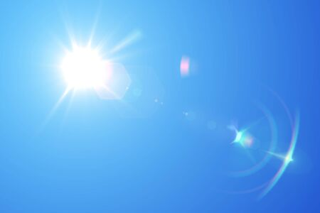 blue sky and sun Stock fotó - 90369622