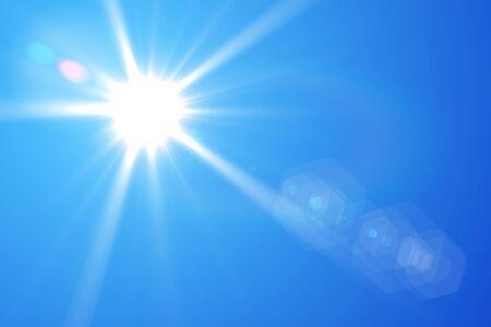 blue sky and sun Stock fotó - 90156482