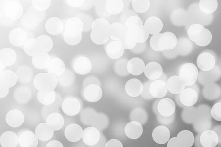 silver and white bokeh lights defocused. abstract background Stock fotó - 90273782