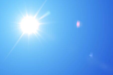 blue sky and sun Stock fotó - 90312956