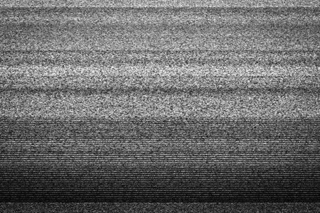 Static tv noise, bad tv signal, black and white, monochrome Stock fotó
