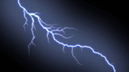 Electric lightning strike on black background. Stock fotó - 91042832