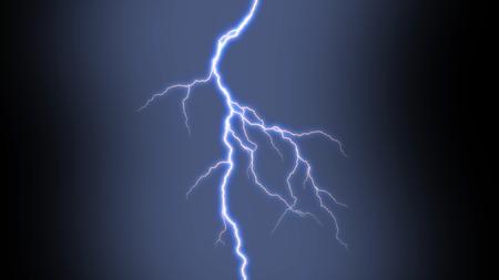 Electric lightning strike on black background. Stock fotó - 90864056