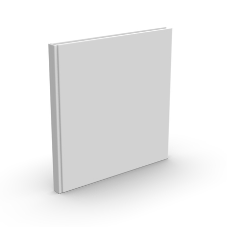 Blank book cover over white background, 3d rendering Stock fotó - 91269696