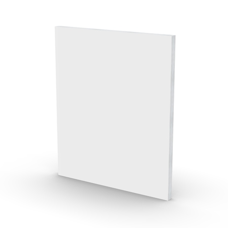 Blank book cover over white background, 3d rendering Stok Fotoğraf
