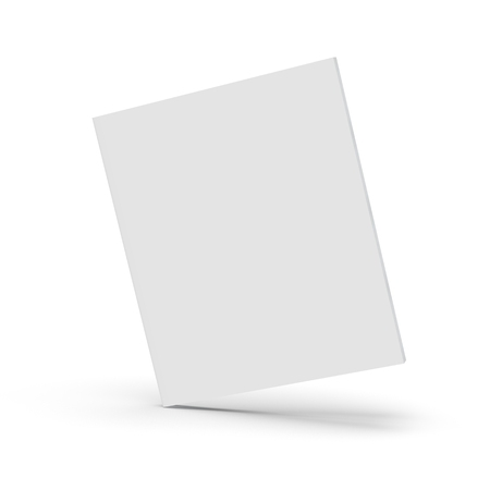 Blank book cover over white background, 3d rendering Stock fotó - 91320287