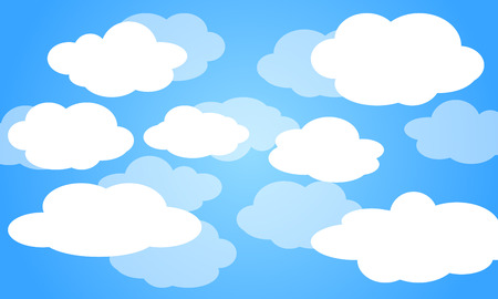 Sky with clouds on a sunny day. Vector illustration Stock fotó - 99015766