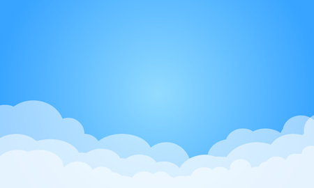 Sky with clouds on a sunny day. Vector illustration Stock fotó - 99017492