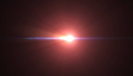 Optical lens flare light effects. illustration Imagens