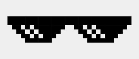 Pixel glasses vector icon eps 10