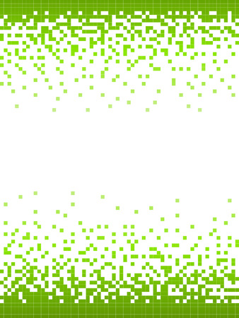 Abstract Green Mosaic Frame Background illustration.