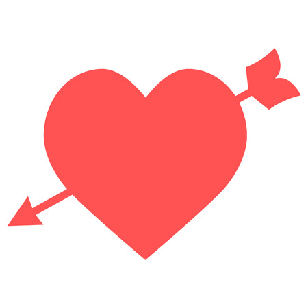 Amour Symbol with Heart and Arrow Icon Ilustração