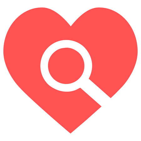 heart search icon Stok Fotoğraf - 111277962