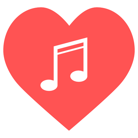 heart music icon Stock Illustratie