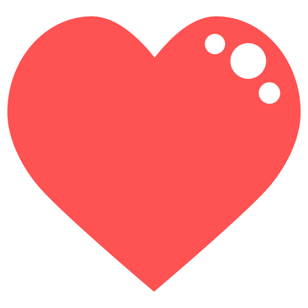 Red heart icon vector Stok Fotoğraf - 111277975