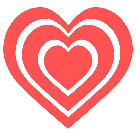 Red heart icon vector Stock fotó - 111277976