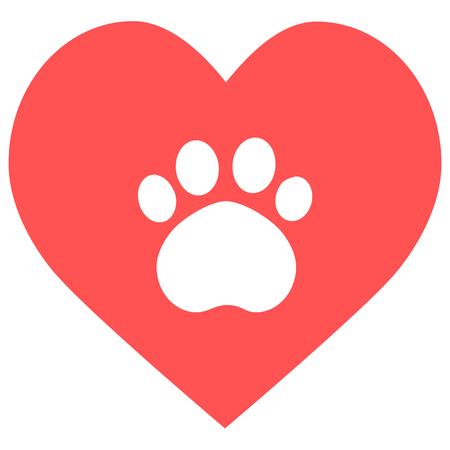 heart paw icon Stock Illustratie