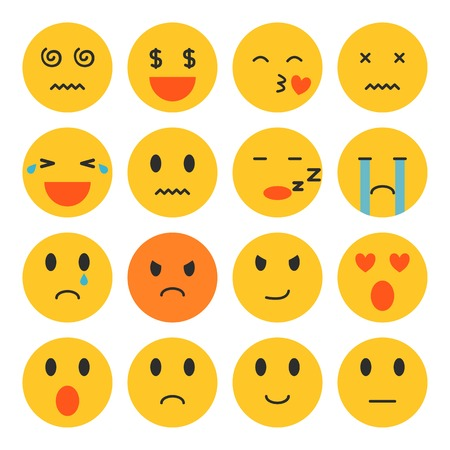 Set of Emoji Isolated Vector Stock Illustratie