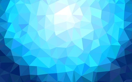 Blue abstract geometric background Stock Illustratie