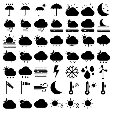 Set of weather icons, Vector Stock Illustratie