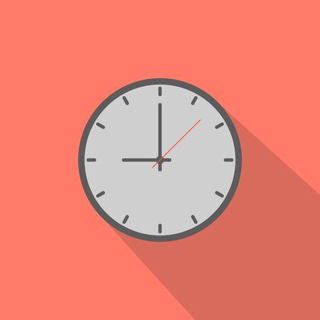 Clock in flat vector illustration
