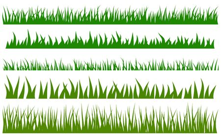 Groen gras vector set