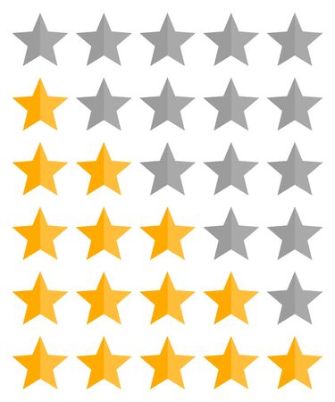Five stars rating vector icon Illusztráció
