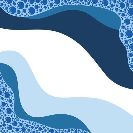 Abstract water wave background Illusztráció