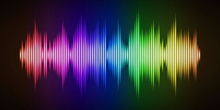 Colorful sound wave background 스톡 콘텐츠