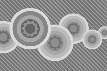 Gray circle abstract gear background 일러스트