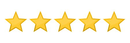 Five stars rating vector icon 일러스트