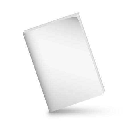 Blank book cover over white background 스톡 콘텐츠