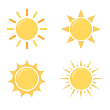 Vector set of sun icons 일러스트