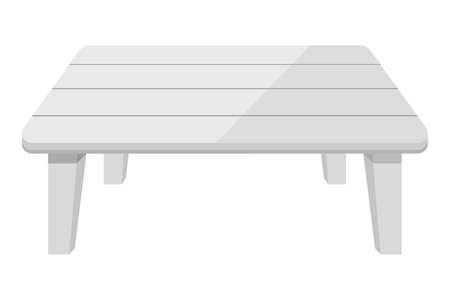 Blank white plastic table vector