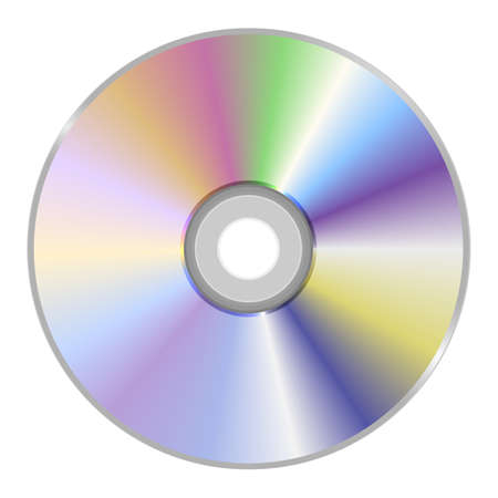 Blank CD or DVD disc isolated on white background. 3d illustration Archivio Fotografico