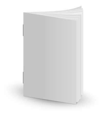 White blank magazine cover mockup. 3d illustration
