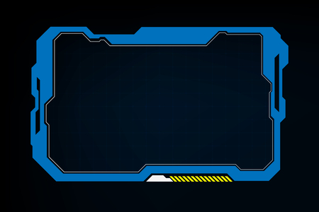 abstract tech sci fi hologram frame template design background Illusztráció