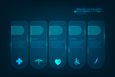 vector abstract health care science medical icon concept background Çizim