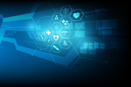 medical health care science innovation concept pattern background Vektorové ilustrace