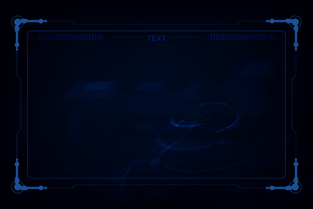 abstract hi tech futuristic template design background Illustration