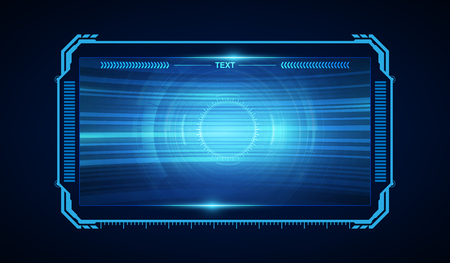 abstract hud ui gui toekomstig futuristisch schermsysteem virtueel ontwerp Vector Illustratie