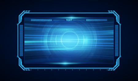 abstraktes hud ui gui zukünftiges futuristisches Bildschirmsystem virtuelles Design Vektorgrafik